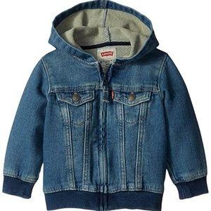 Other - Baby Boys' Indigo Knit Denim Hoodie